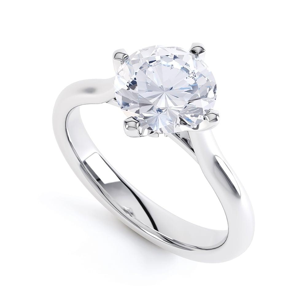 Berrys platinum solitaire brilliant cut diamond engagement ring
