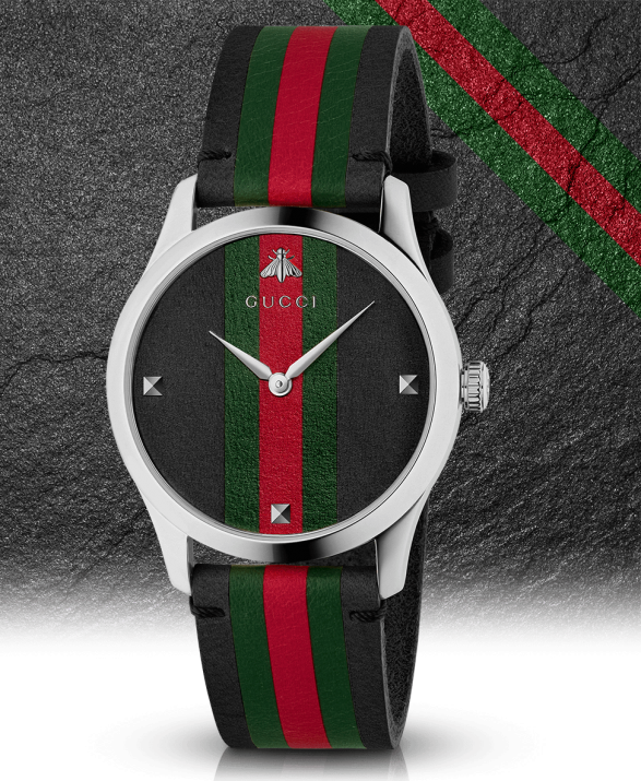 d31087577 Just like strands of DNA, the signature Gucci style is woven throughout  every watch design found within the Gucci G-Timeless collection, including  this ...