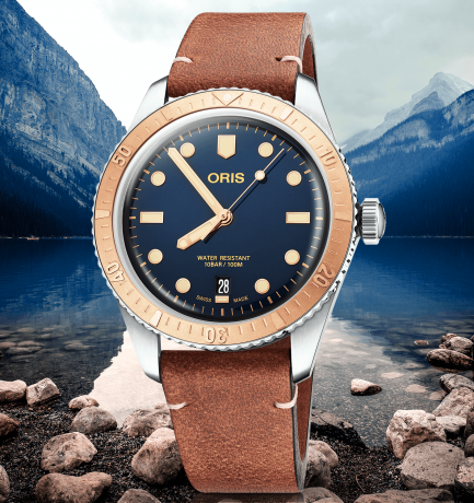 WOTW: Oris Divers Sixty-Five 40mm Bronze & Blue Dial Automatic Watch