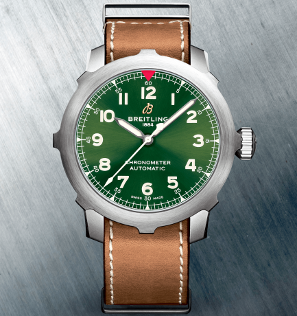 WOTW: Breitling Navitimer 46mm SUPER 8 Titanium Green Dial Automatic Watch