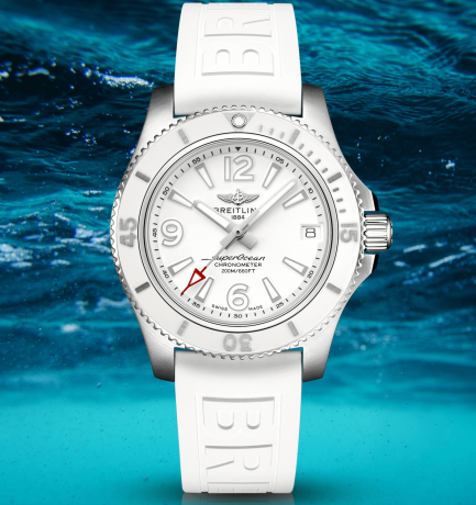 WOTW: Breitling Superocean 36mm White Dial Ladies Automatic Watch