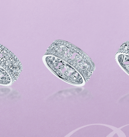 Berry's Showcase: Berry's 18ct White Gold Fusion Diamond Crown Stacking Ring Sets