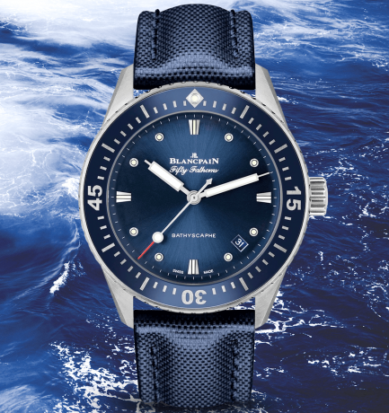 WOTW: Blancpain Fifty Fathoms Blue Dial & Canvas Strap Watch