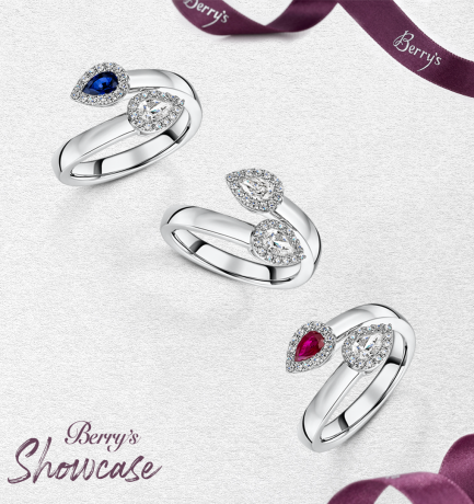 Berry's Showcase: Berry's Pear Cut Fancy Cross Over Ring Collection