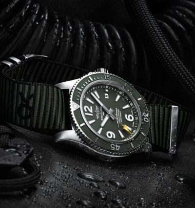 Breitling Superocean 44mm 'Outerknown' Green Dial & NATO Strap Men's Watch
