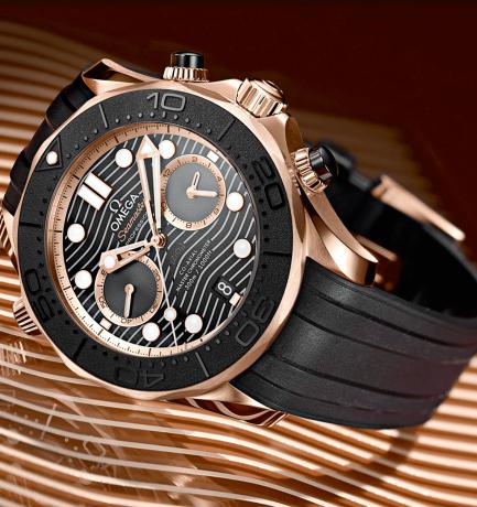 WotW: Omega Seamaster Diver 300m Gold & Ceramic Chronograph Watch