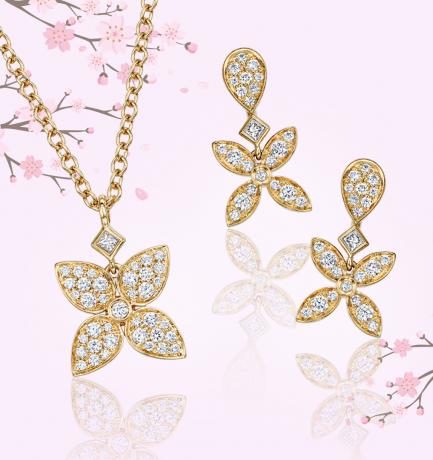 #BerrysShowcase: Berry's 18ct Rose Gold Flower Pendant & Earrings Set