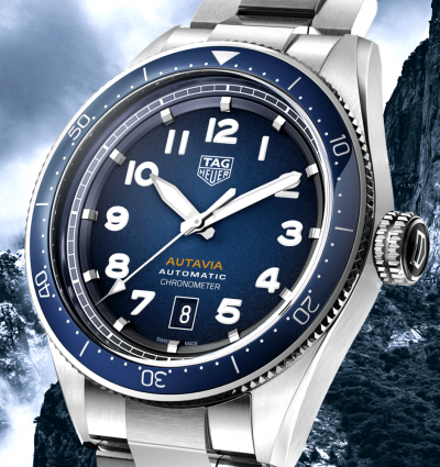 WoTW: TAG Heuer Autavia Smoked Blue Dial Men's Automatic Watch