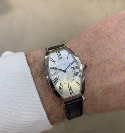 WOTW: Cartier Privé Tonneau Large Platinum Manual-Wind Watch