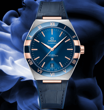 WOTW: OMEGA Constellation 41mm Blue Dial Leather Strap Watch