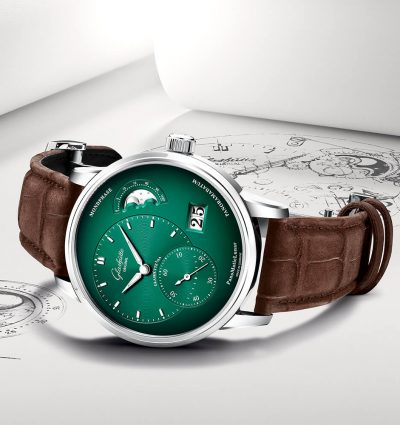 WOTW: Glashutte Original PanoMaticLunar Green Dial Watch