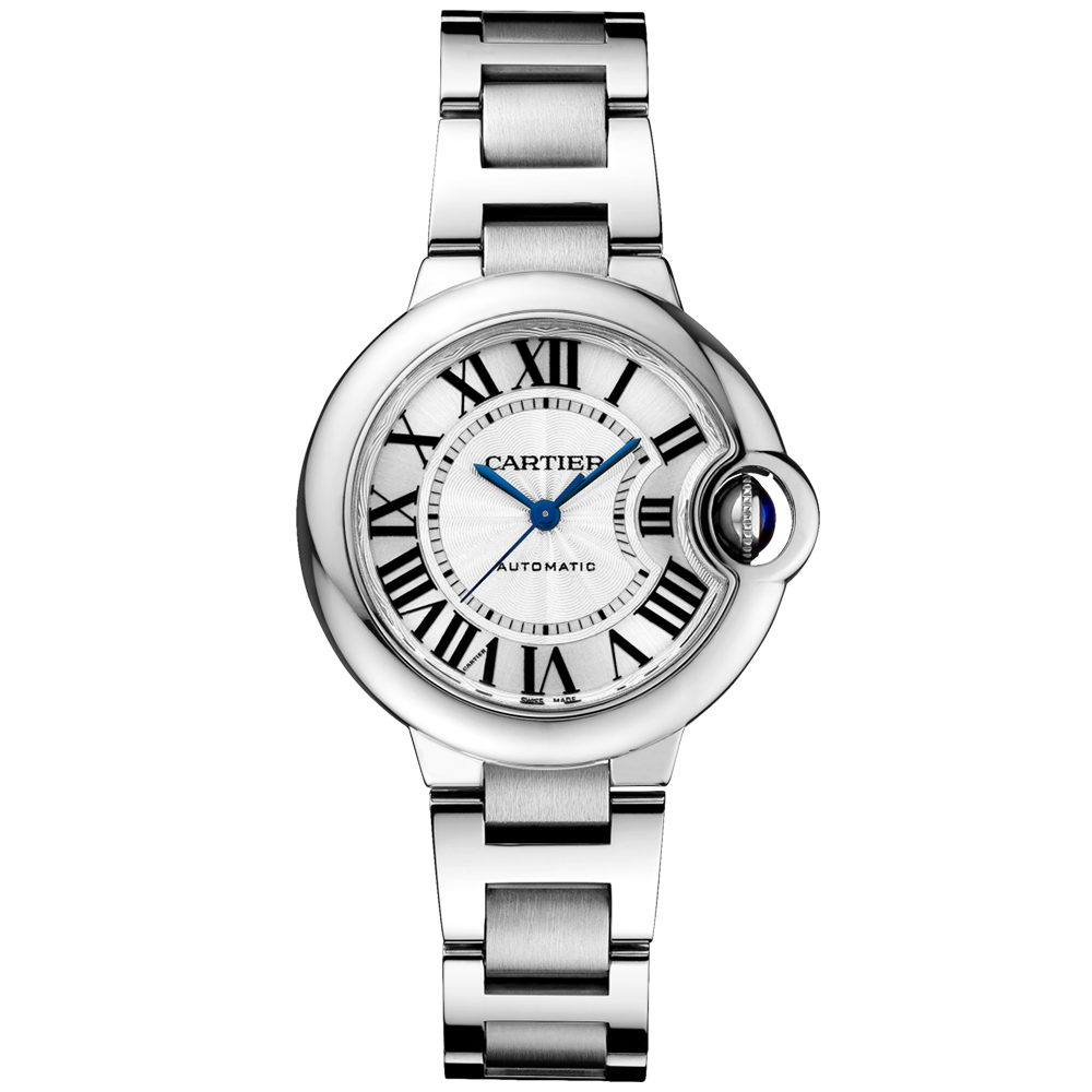 d21a92b917f4 Cartier Ballon Bleu 33mm Steel   Silver Dial Ladies Automatic Watch