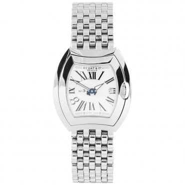 No.3 33mm Silver Roman Dial Ladies Bracelet Watch