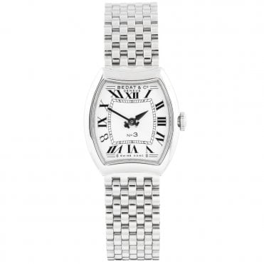 No.3 Silver Roman Dial Ladies Bracelet Quartz Watch