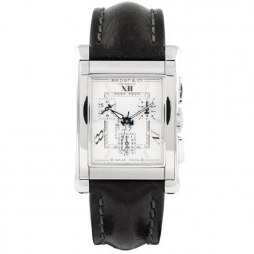 No.7 Silver Guilloche Dial Ladies Chronograph Watch