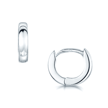 18ct Polished White Gold Small Hoop Earrings