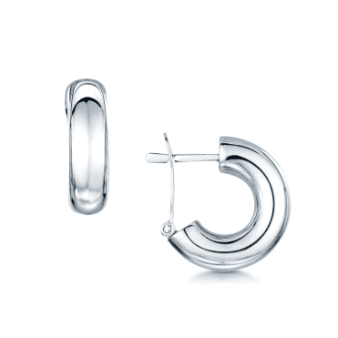 18ct Polished White Gold Small Huggie Hoop Earrings