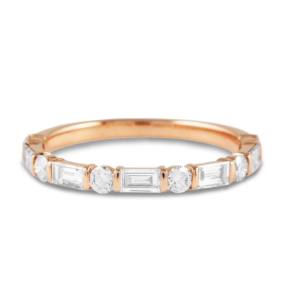 diamond full band ring rose eternity gold moments your anniversary for beautiful the bands special