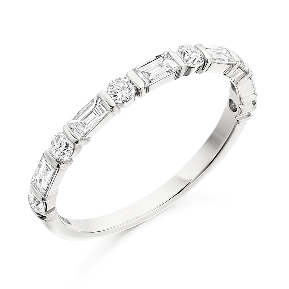 tw betteridge ct eternity platinum collection band set p ring baguette cut diamond channel bands