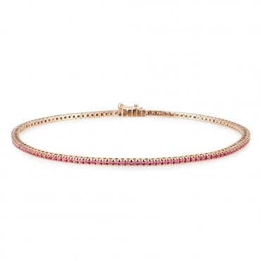 Berry's 18ct Rose Gold Pink Sapphire Bracelet