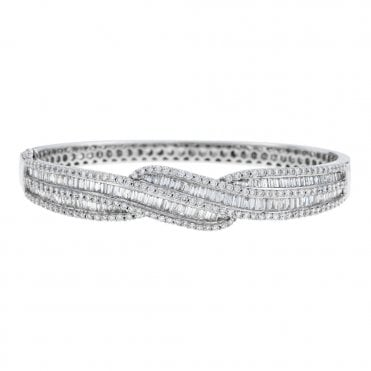 and set min bezel diamond jewellery bangles white gold bangle ecali bracelets