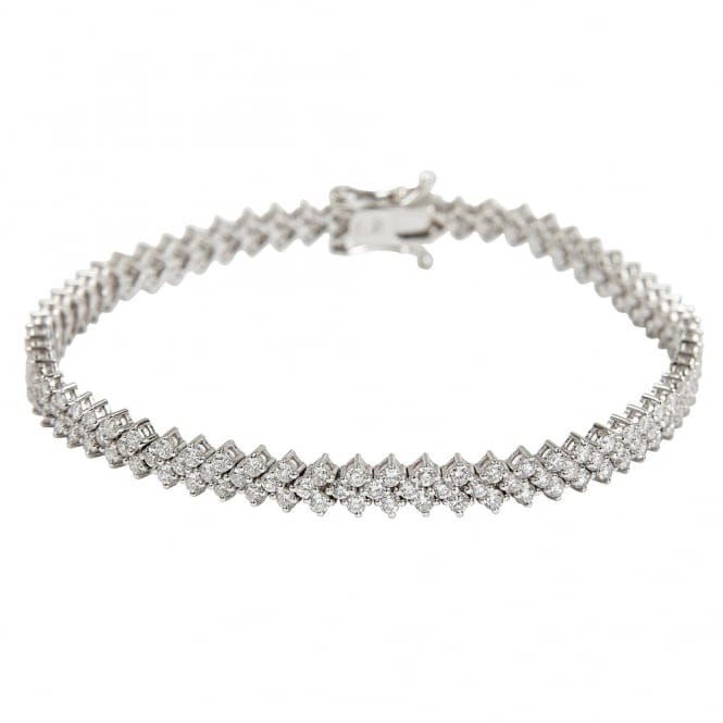 Berry's 18ct White Gold Brilliant Cut Diamond Bracelet
