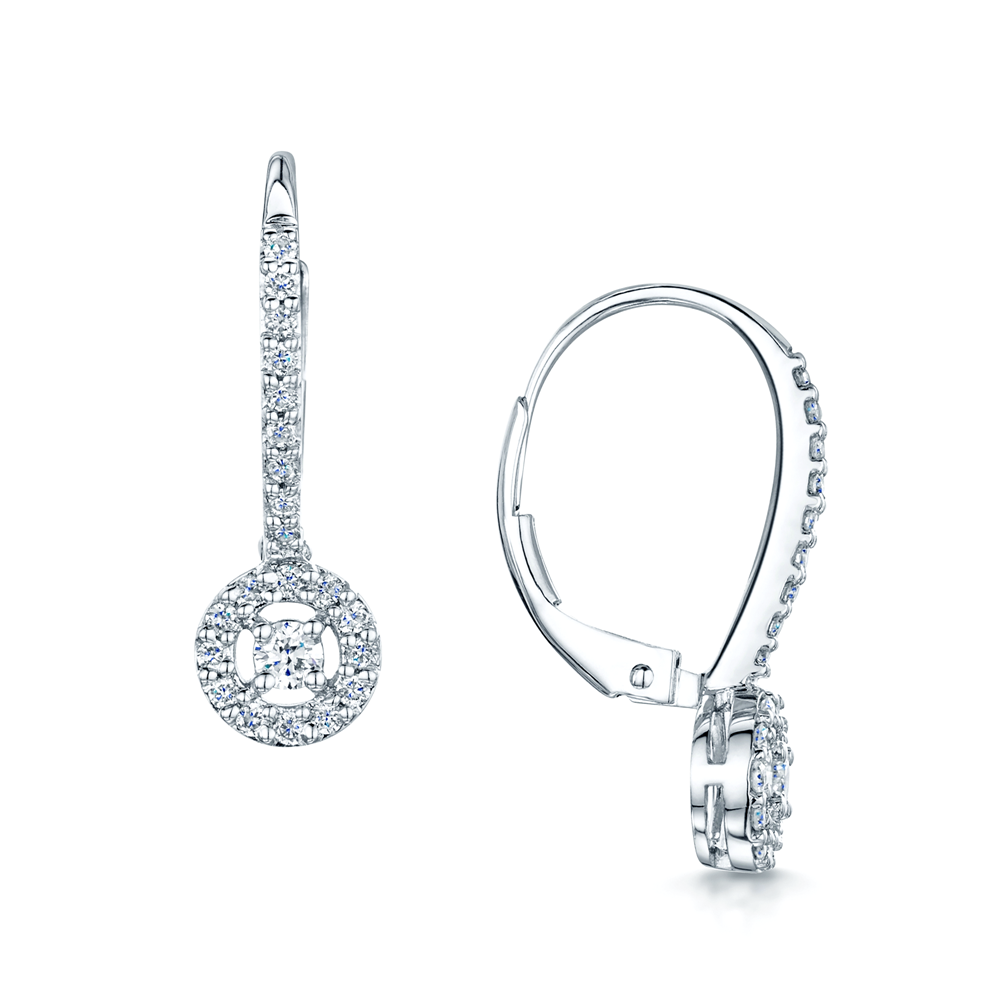 pure circular open platinum crislu products circle drop finished earrings in