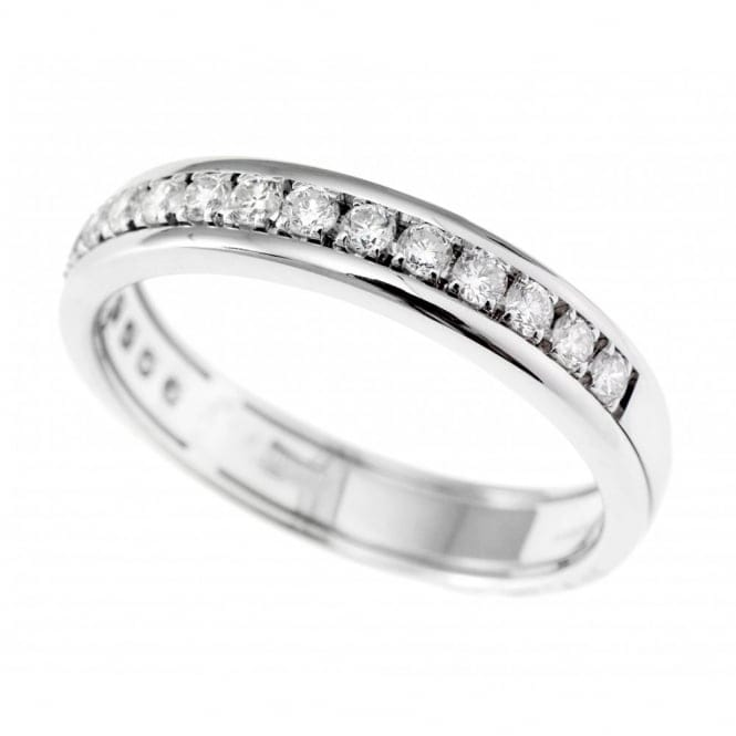 Berry's 18ct White Gold Channel Claw Set Round Brilliant Cut Diamond Eternity Ring 0.40ct