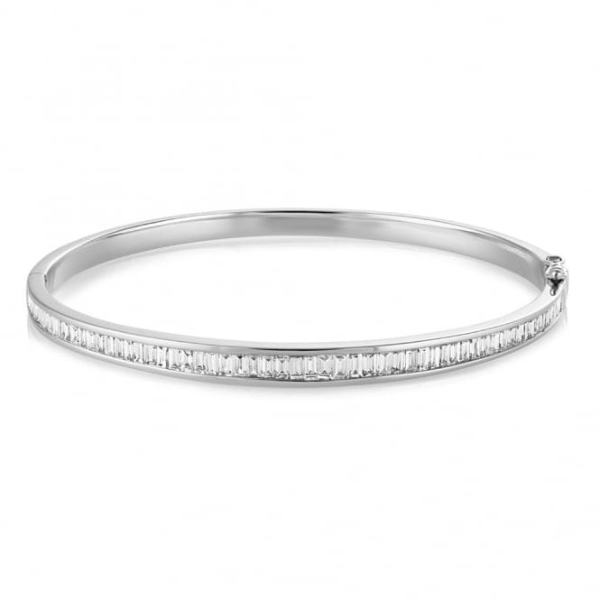 Berry's 18ct White Gold Channel Set Diamond Bangle