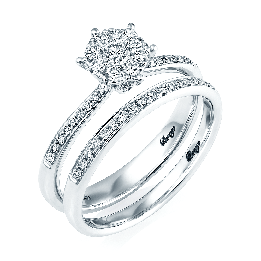 White And Gold Wedding: 18ct White Gold Diamond Bridal Set Rings From Berry's