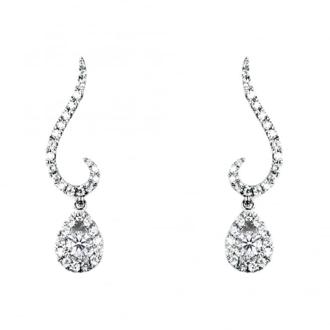 Berry's 18ct White Gold Diamond Drop Earrings