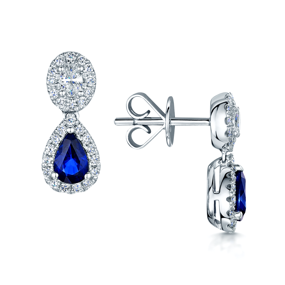 sapphire s pendant blue and diamond pear a shaped fifth drop products bond
