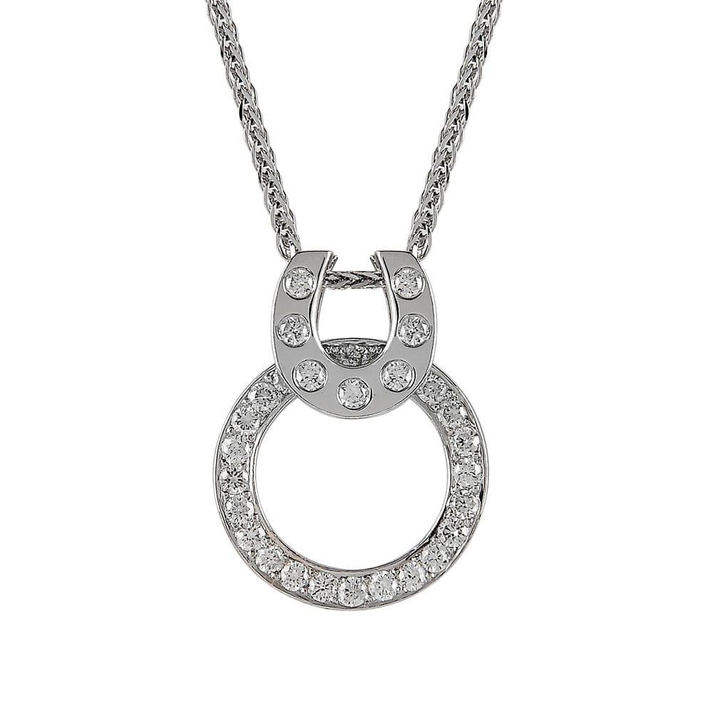 18ct white gold diamond horse shoe necklace from berrys jewellers 18ct white gold diamond set horse shoe necklace aloadofball Choice Image