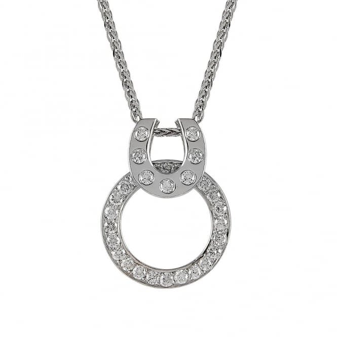 Berry's 18ct White Gold Diamond Set Horse Shoe Necklace