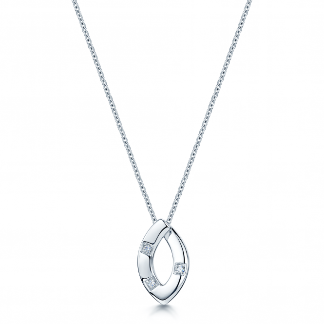 Berry's 18ct White Gold Diamond Set Loop Pendant