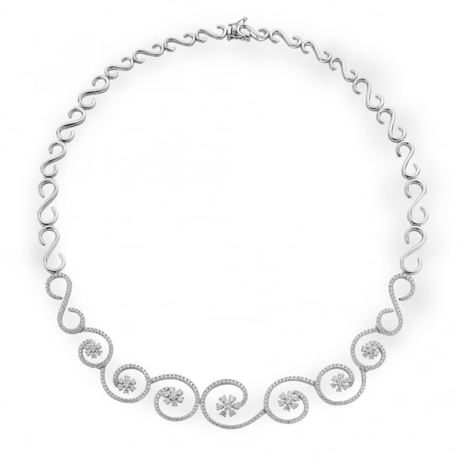 Berry's 18ct White Gold Diamond Set Necklace