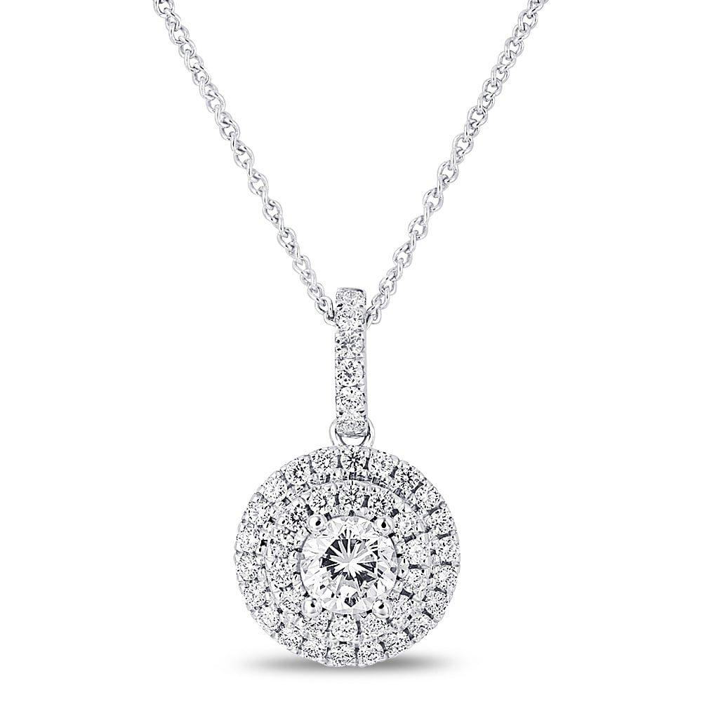 in set charm diamond with pendant solitaire single evergreen bezel necklace nl jewelry wg platinum