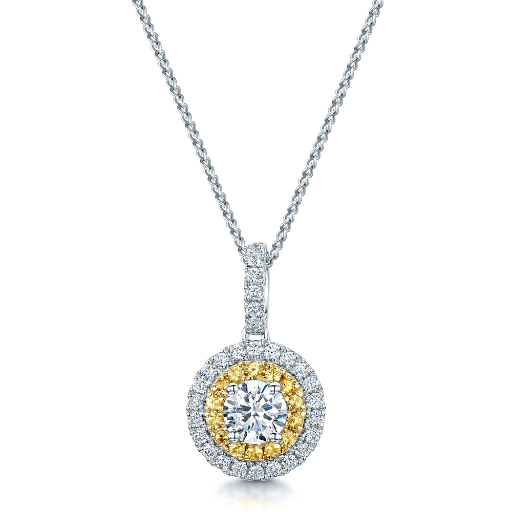 ct citrine enchanted sterling silver boutique pendant opals products round sapphire yellow