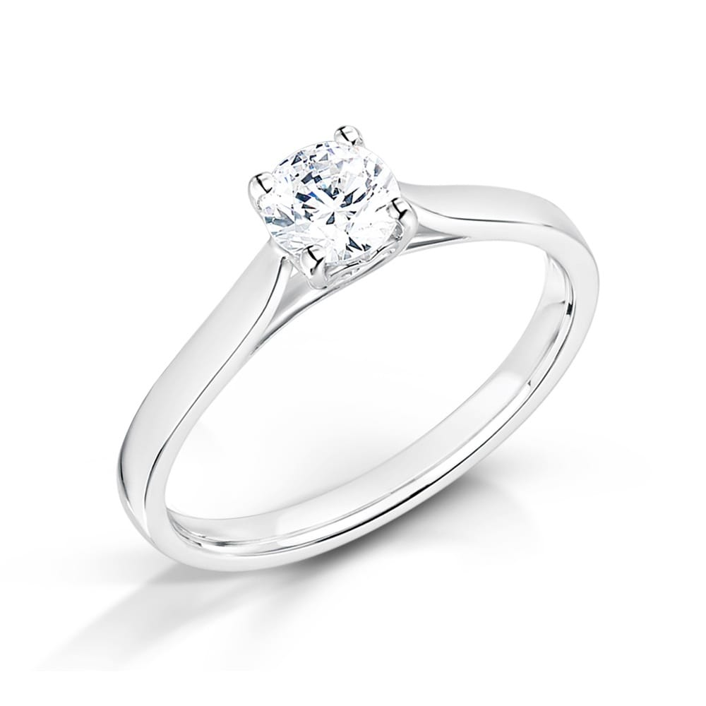 18ct White Gold Heart Design Diamond Set Engagement Ring 2326MTSS