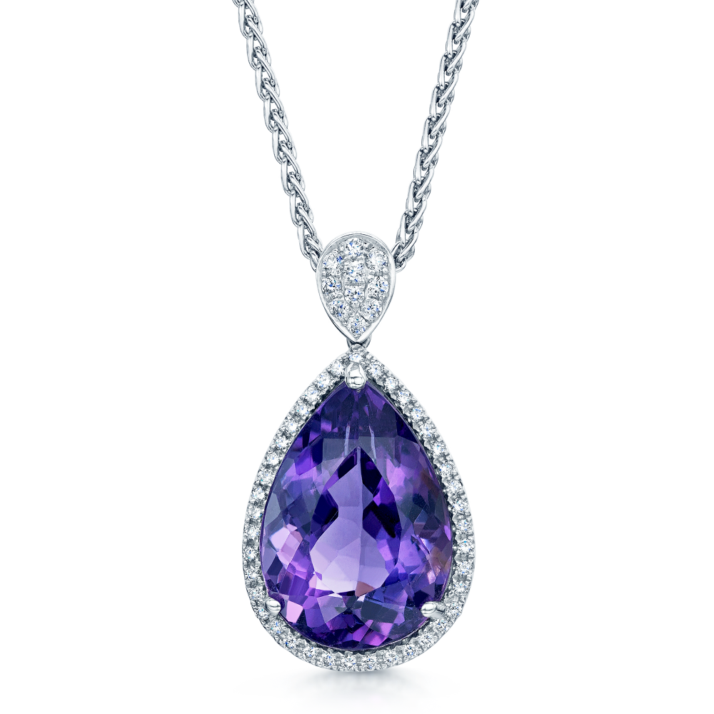 necklaces amethyst products pendant purple k yellow diamond pendants and