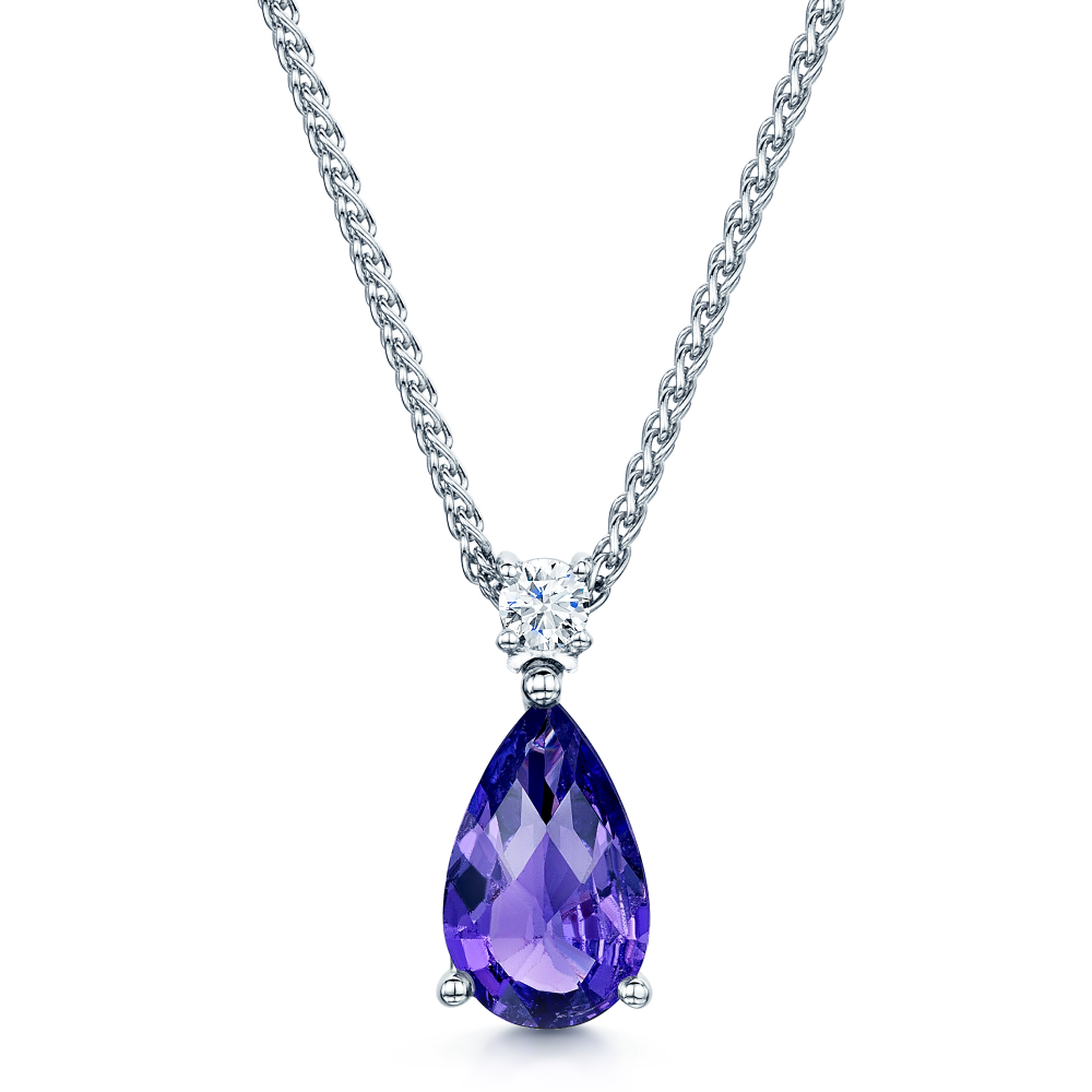 edge necklace diamond p round silver xinguang simple sku s women pendant purple