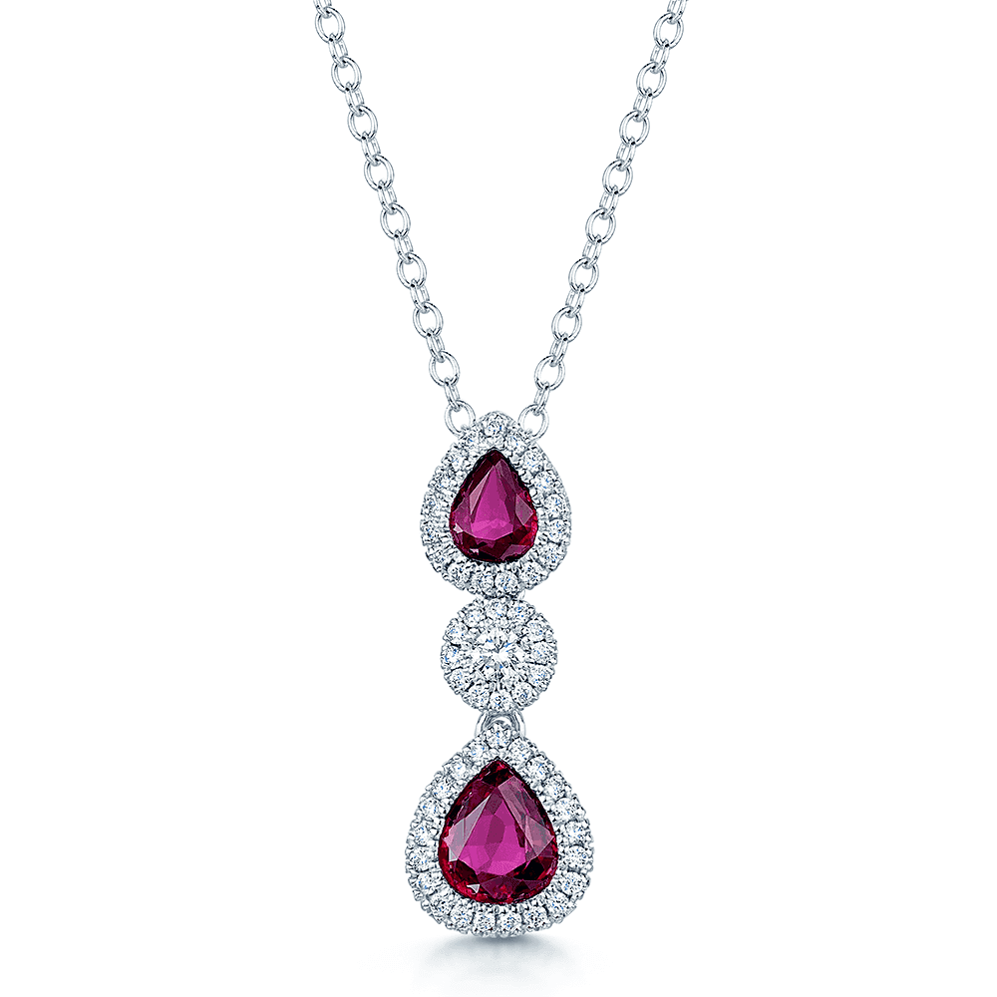 3bb5f8d34768 Berry s Berry s 18ct White Gold Pear Shape Ruby   Diamond Pendant