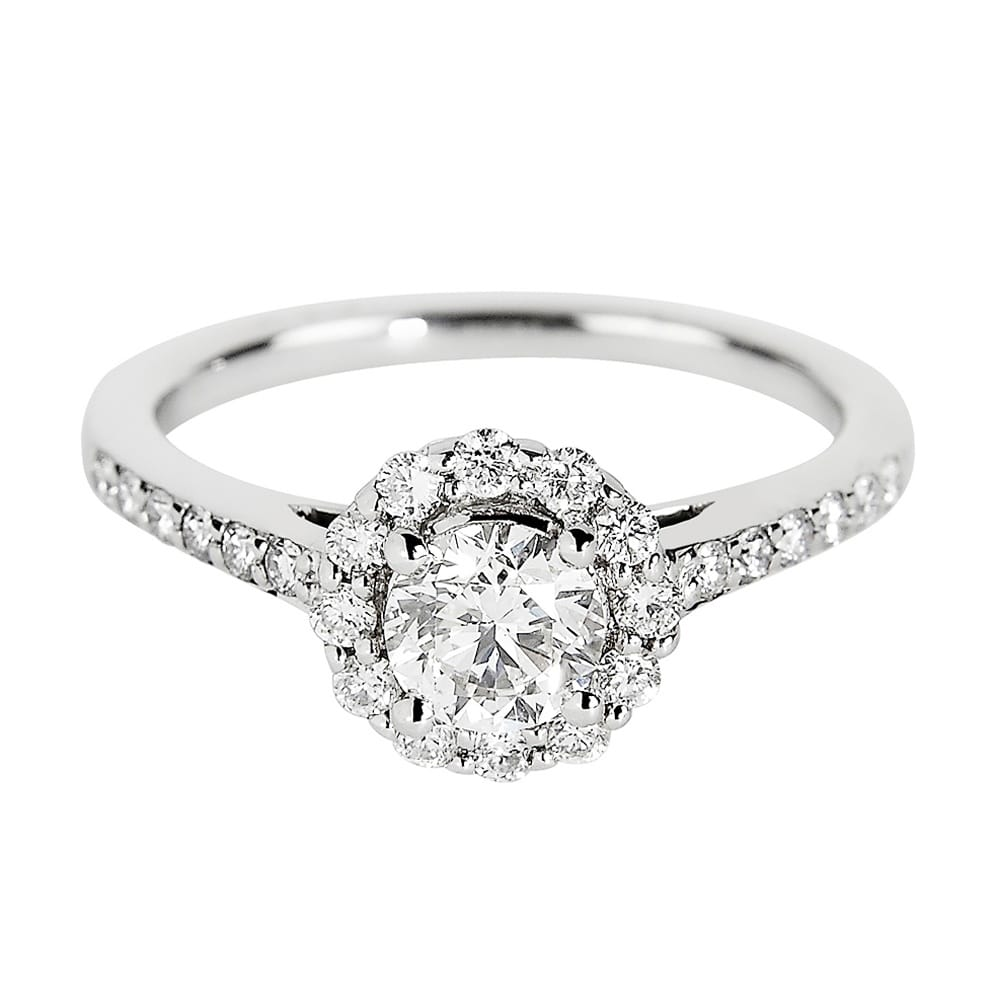 gold engagement enr true stem white pav a french platinum rings pear brilliant pave diamond halo ring in