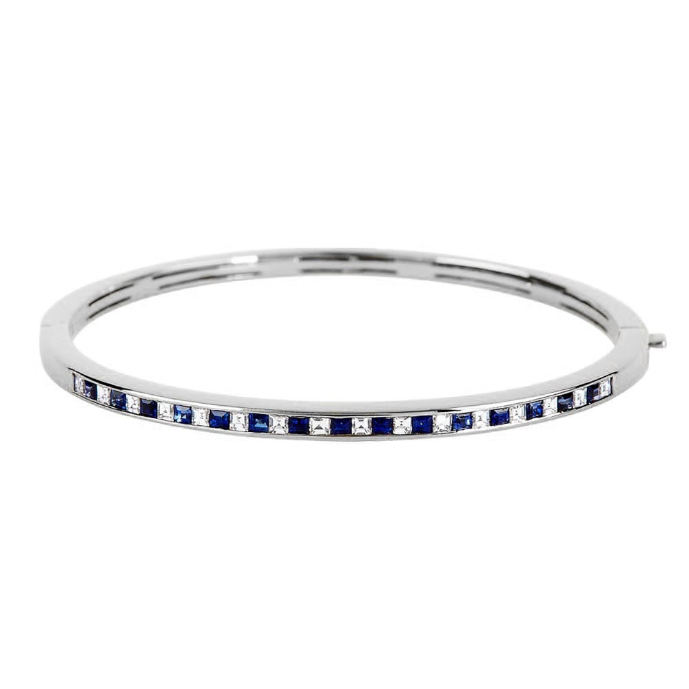 from and bracelet amp de diamond bangle marsac jewellery the sapphire bangles image