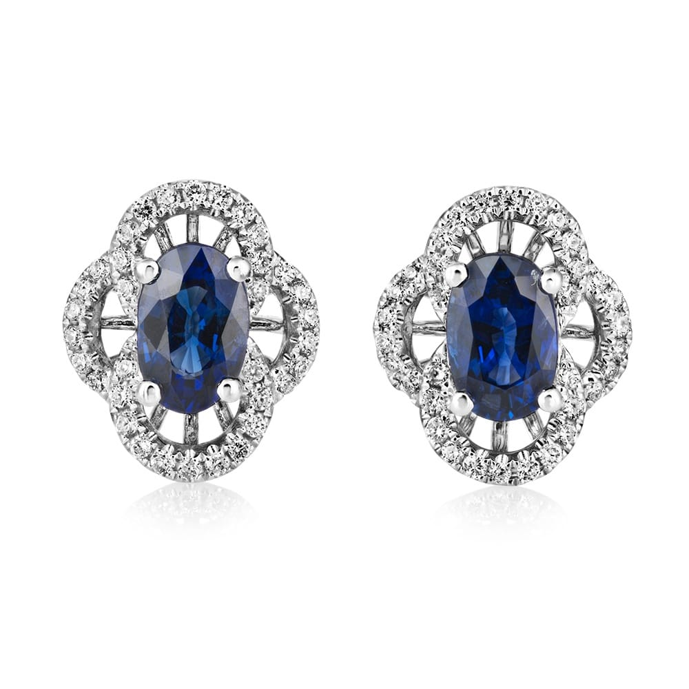 Berry S 18ct White Gold Sapphire And Diamond Vintage Style