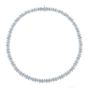 18ct White Gold Snowflake Diamond Set Necklet