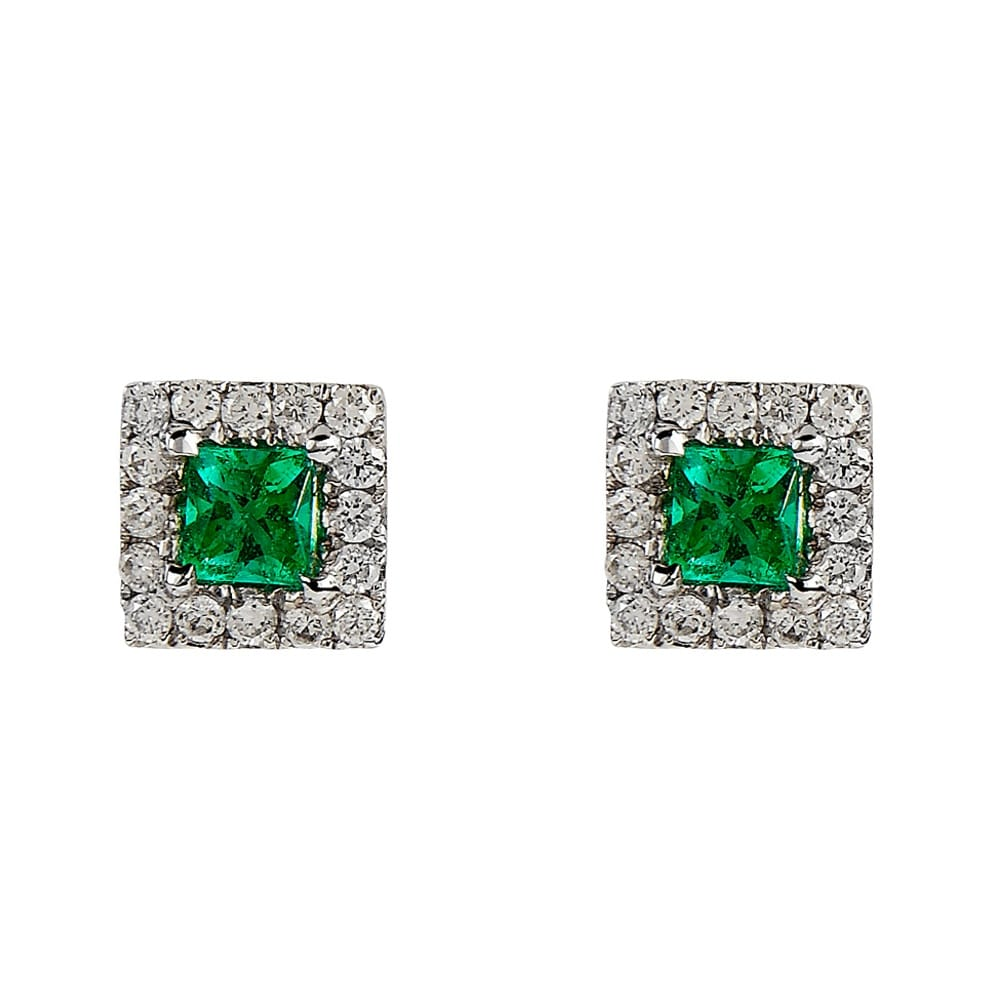 cut quartz jewellery green earrings hickey greenearstuds product stud trilliant sarah emerald