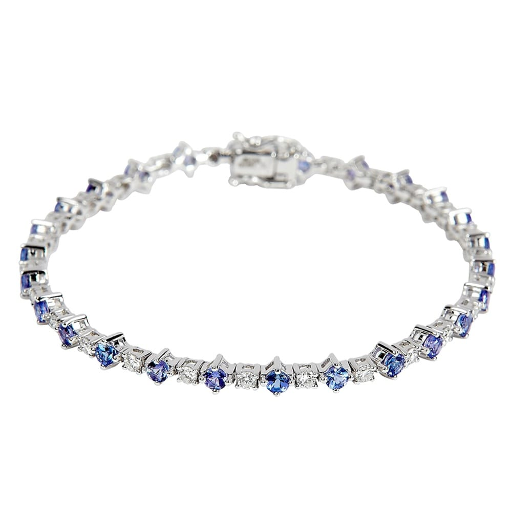 tanzanite bracelet white tennis gold in evert and diamond jewellery