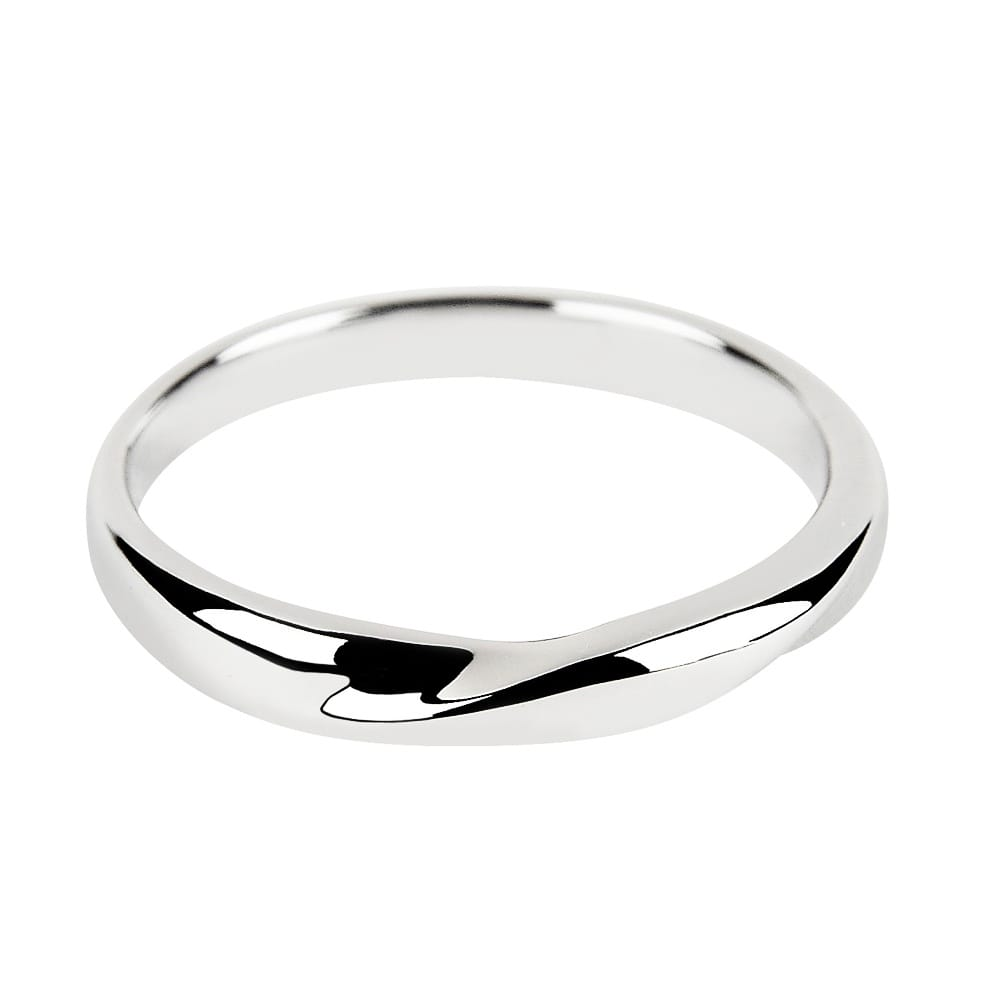 18ct White Gold Twist Design Band Engagement Ring From Berrys Jewellers