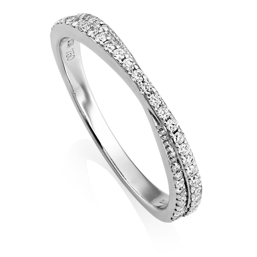 Berry S 18ct White Gold Twist Ribbon Diamond Set Eternity